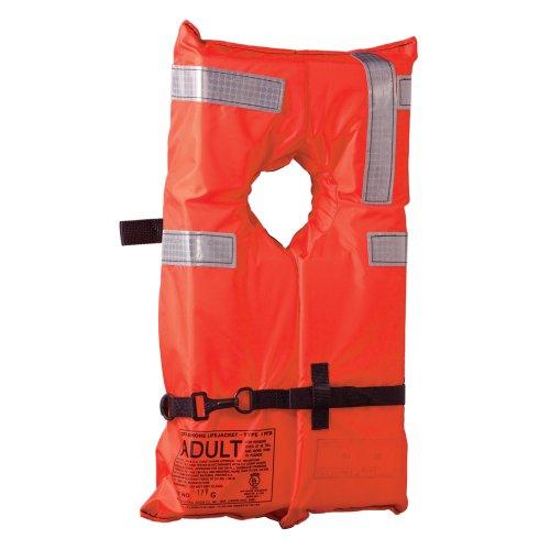Life Vest Type (Kent Commercial Type I Collar Style Life Jacket, Adult Over 90 Pounds, Orange)