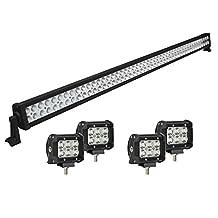 LED Light Bar,Simplive® 42 Inch 240W Led Work Light Bar Flood Spot Combo Beam Driving Lights Fog Lamp Off Road Lighting for Suv Ute Atv Truck 4x4 Boat with 4PCS 18W LED Work Lights