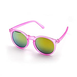 Wayfarer Unicorn Kids Sunglasses by XINMADE 100% UV400 Protection for Boys and Girls Age 3-10 (Pink)