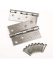 2 stuks SOTECH deurscharnier, RVS (roestvast), 100 x 75 mm, kogellagerscharnier, max. draagvermogen 50 kg