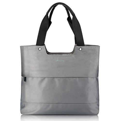 Laptop Tote Bag for Women, SPARIN 15.6 Inch Laptop Bag Lightweight Water-resistant Work Tote, Grey