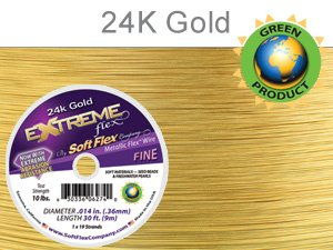 Soft Flex Extreme Beading Wire 24k Gold .014