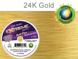 (Soft Flex Extreme Beading Wire 24k Gold .014