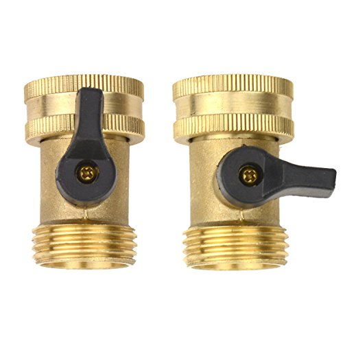 Individual Taps - 2Sets Brass Fittings Male Connector With Individual On/Off Valves Garden Tap Hose Adapter