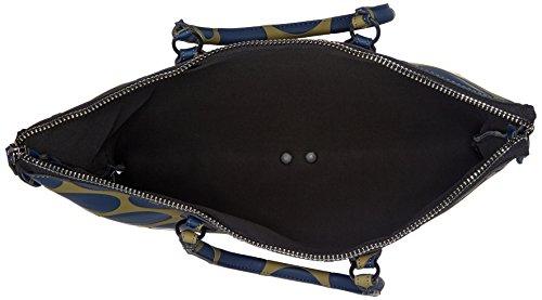 GABS G4 Tg Xl Black - Piatta Trasform. Pois Borsa Donna, Multicolore (Blu+verde Militare), 1x40x47 cm (B x H T)
