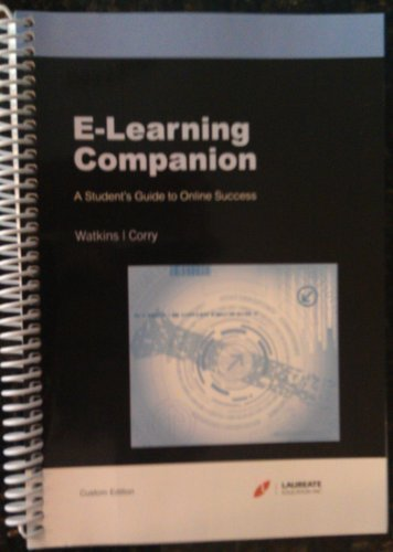 Download E-learning Companion A Student's Guide to Online Success Custom Edition pdf