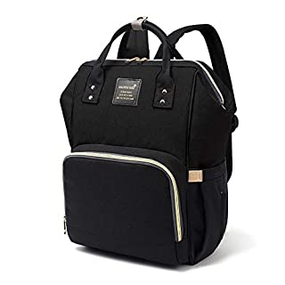 Baby Diaper Bag Multi-Function Waterproof Travel Backpack Nappy Bags for Baby Care, Large Capacity, Stylish and Durable (Black)