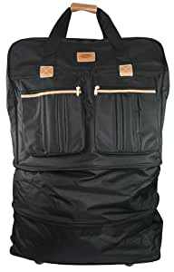 """Expandable / Foldable Wheeled Travel Bag, Rolling Duffel Spinner Upright Luggage (24"""")"""