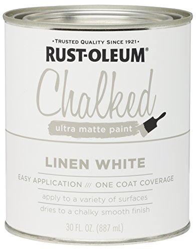 Finish Distress Wood (Rust-Oleum 285140 Ultra Matte Interior Chalked Paint 30 oz, Linen White)