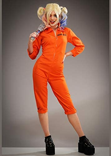 Magic Box Disfraz de Harley Quinn Style Orange Prison Jumpsuit ...