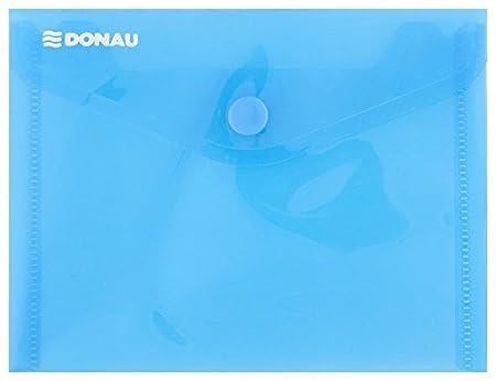 10x Dokumententaschen Umschläge Klettverschluss A7 quer farblos transparent