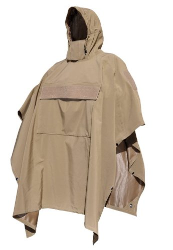 HAZARD 4 Poncho Villa(TM) Technical Soft-Shell Poncho (R) - Coyote