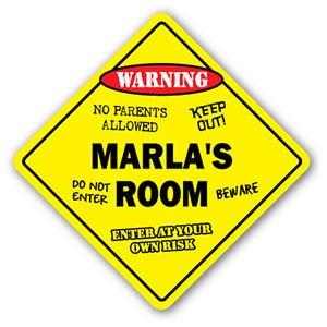 Amazon.com: Marla habitación de cartel calcomanía Niños ...