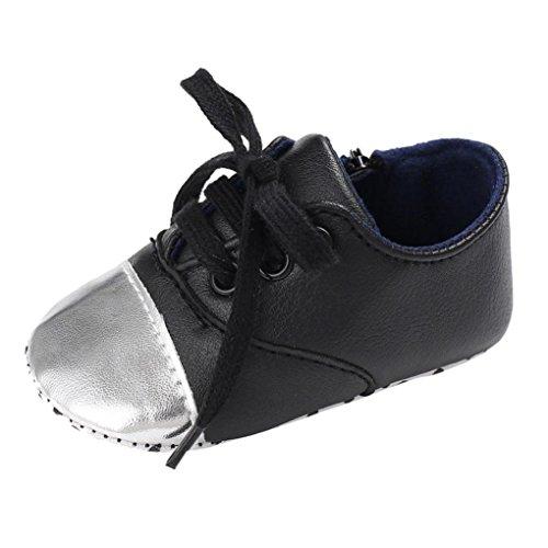 Clode® Baby mädchen Weiche Sole Schuhe Weiche Prewalker Turnschuhe Outdoor Sneakers Schuhe Schwarz