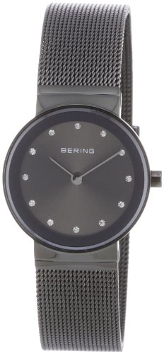 BERING Time 10126-077 Womens Classic Collection Watch with Mesh Band and scratch resistant sapphire crystal. Designed in Denmark.