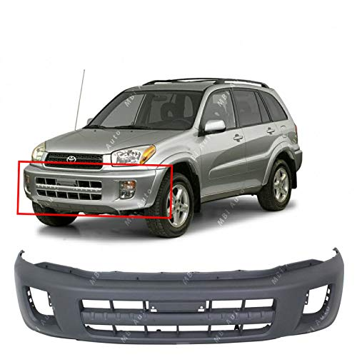 (MBI AUTO - Textured, Front Bumper Cover Fascia for 2001 2002 2003 Toyota Rav4 Without Flares 01 02 03, TO1000248)