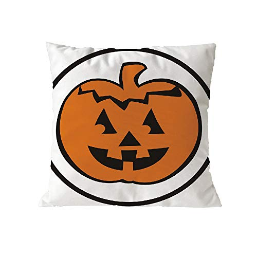 Halloween Pillow Case Pgojuni Throw Pillow Cover Cushion Polyester Cover Pillow Case Home Decor 1pc (45cm X 45cm) (C) by Pgojuni_Pillowcases (Image #1)