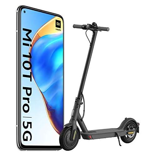 chollos oferta descuentos barato Xiaomi Mi 10T Pro Pack de Lanzamiento Pantalla 6 67 FHD DotDisplay 8GB 128GB Cámara de 108MP Snapdragon 865 5G 5 000mAh con carga 33W Plata Lunar versión española Scooter Essential