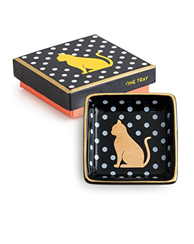 FASHIONEST CAT TRINKET DISH - Women Gold and Silver Jewelry/Trinkets - Perfect Jewelry Organizer Tray by Fashionest Jewelry