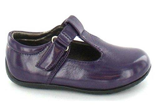Spot On! Flat T Bar Shoe (Purple, Size 10 Child UK)