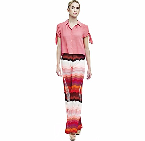 Pantalone Donna Guess M Multicolor Wave Stri W72b78 K5ht0 1/7 Primavera Estate 2017