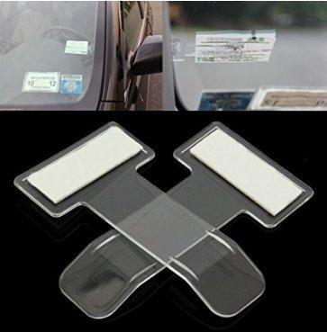 2PC Car Invoice Ticket Clip Car Parking Ticket License Holder Car Windshield Window Invoice Folder