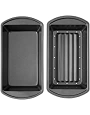 Loaf Pan Insert Non Stick Meatloaf Pan Drains Fat As It Cooks for Cooking & Baking Made in USA (Loaf pan Drain, Loaf Pan Set))