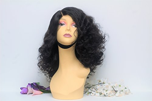 Wavy Bouncy Human Hair Wig Glueless Lace Front Wig Hand Made Wig by Qualityhairbylawlar