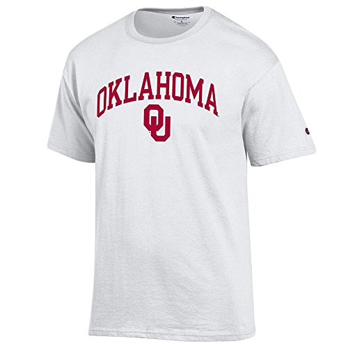 Elite Fan Oklahoma Sooners Men's Short Sleeve Arch Tee, White, X Large
