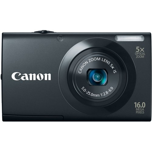 Canon PowerShot A3400 IS 16.0 MP Digital Camera with 5x Optical Image Stabilized Zoom 28mm Wide-Angle Lens with 720p HD Video Recording and 3.0-Inch Touch Panel LCD (Black) ()