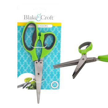 DollarItemDirect HERB Scissors 6 Blades 2AST Color B&C TIE Card, Case Pack of 24