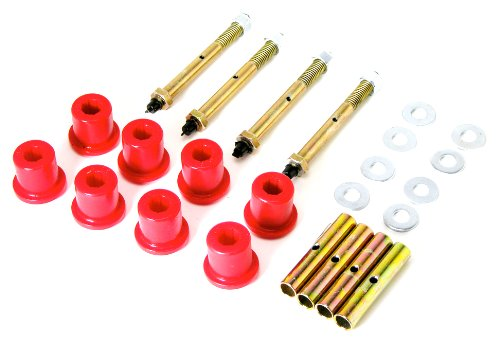 - Prothane 1-815 Red Greasable Rear Shackle Bushing Kit for CJ5, CJ7 and CJ8