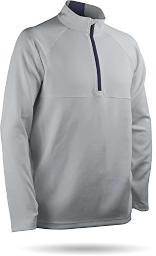 (Sun Mountain Thermalflex Golf Pullover 2018 Platinum/Navy XX-Large)