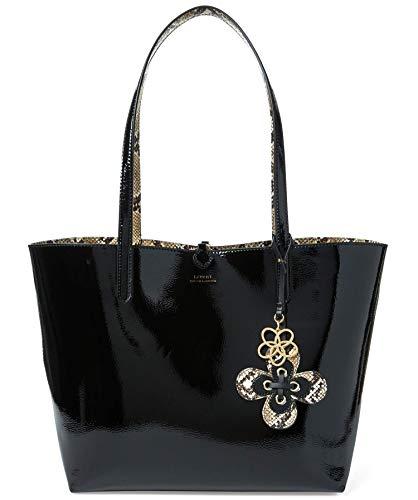 - Ralph Lauren Merrimack Reversible Tote Bag Handbag - Black/Natural