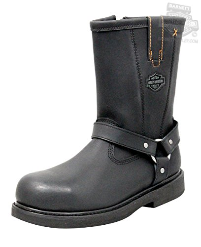 Harley-Davidson Men's Bill Steel Toe Harness Motorcycle Boot, Black, 10 M US