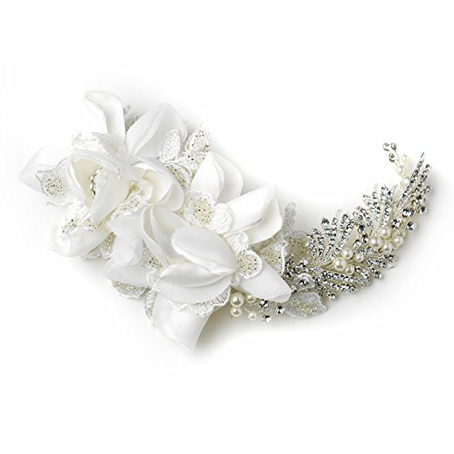 Donna Rhinestone & Bugle Bead Accent Wedding Bridal Special Occasion Comb by Special Moments LLC