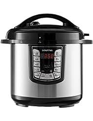 Gourmia GPC800 8 Qt Digital Multi-Mode SmartPot Pressure Cooker | 13 Cook Modes | Removable Pot | 24-Hour Delay Timer | Automatic Keep Warm | LCD Display | Pressure Sensor Lid Lock | Recipe Book