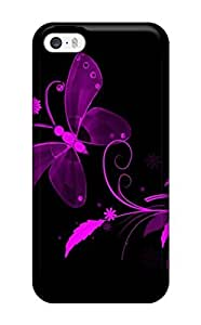 For Iphone Case, High Quality Pretty Purple Butterfly For Iphone 5/5s Cover Cases(3D PC Soft Case) hjbrhga1544