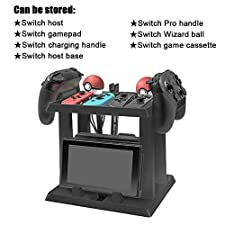 XFUNY Nintendo Switch Storage Stand Game Accessories Storage Bracket Multi-function Home Host Handle Elf Ball Headset Game Cassette Charging Cable Storage Rack