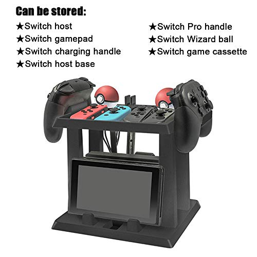(ElementDigital Nintendo Switch Game Accessories Storage Bracket Multi-function Home Host Handle Elf Ball Headset Game Cassette Charging Cable Storage Rack)