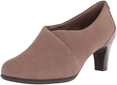 Rockport Women's Total Motion Melora Shootie Boot, New Taupe Kid Suede, 10 W (Rockport Foam Boot)
