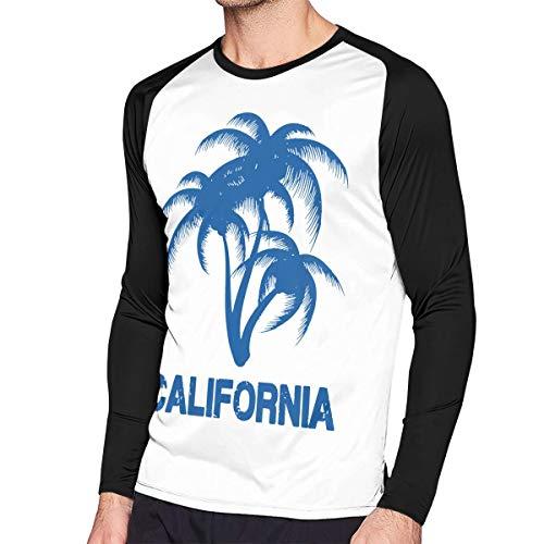 Crazy Popo Men's Casual California-Dreamin Long Reglan Jersey T Shirts