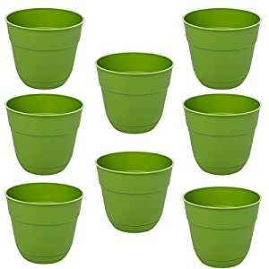 Suncast-8-Pack-Fern-Garden-Planters-Box-4-Green-Resin-Indoor-Outdoor-For-Garden-Flowers-USA