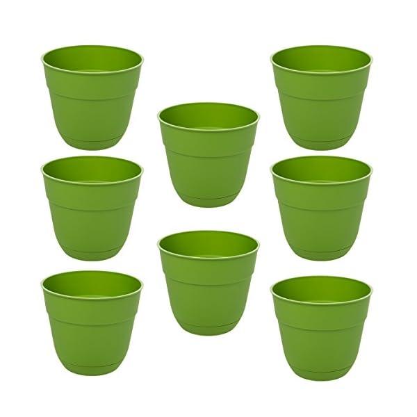 Suncast-8-Pack-Fern-Garden-Planters-Box-4-Green-Resin-Indoor-Outdoor-For-Garden-Flowers-USA