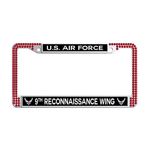 - Nuoousol U.S. Air Force 108th Air Refueling Wing Red Bling Rhinestones Car Licence Plate Covers, Stainless Steel Rhinestones Auto License Cover Holder with 2 Holes Screws Caps Set