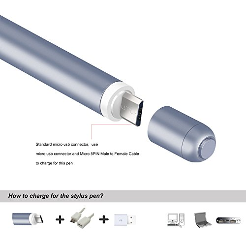 Pendorra - Active Fine Point Precision Stylus Pen Drawing Pencil (Grey) by Pendorra (Image #4)