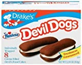 Drake's by Hostess 8 ct Devil Dogs Creme Filled Devil's Cakes 12.8 oz (Pack of 6)