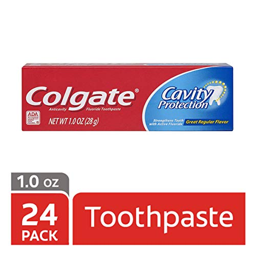 Colgate Cavity Protection Toothpaste with Fluoride - 1 ounce (24 Pack) (Trial Toothpaste)