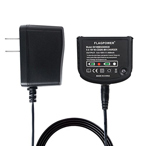 FLAGPOWER Ni-cad&Ni-Mh Battery Charger 9.6V MAX and 18V MAX for Black and Decker HPB18-OPE HPB18 HPB14 HPB12 HPB96 Nicad Nimh