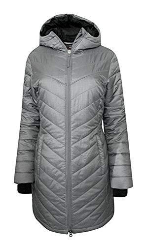 Columbia Womens Morning Light II Omni Heat Long Jacket Coat Puffer (XS, Grey/Reflective) -